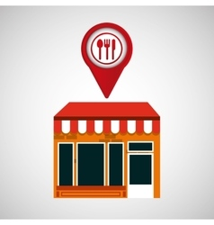 mobile phone restaurant shop locater vector image