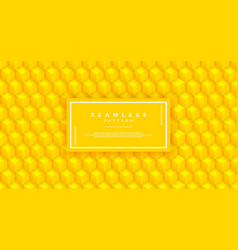 abstract yellow hexagon pattern seamless vector image
