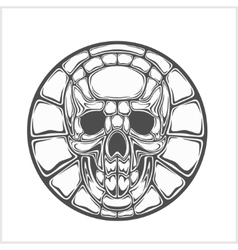 Ancient sign - skull vector image