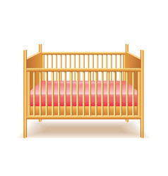 baby bed isolated vector image