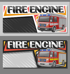 banners for fire engine vector image
