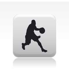 Basketball player icon vector