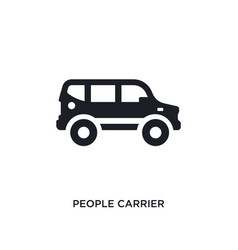 Black people carrier isolated icon simple element vector