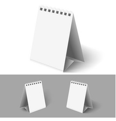 Blank table flip calendars on white and grey vector