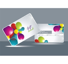 Bright gift cards vector