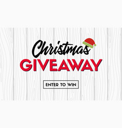Christmas giveaway promo template vector