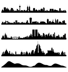 city skyline cityscape a skyline big cities vector image