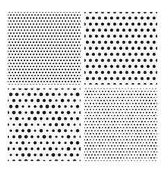 Collection of seamless repeating black dots vector image