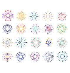 color fireworks festive sparkles carnival vector image