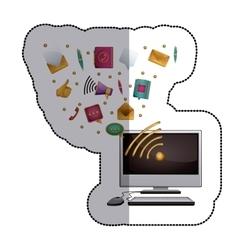 Computer Social media and multimedia design vector image