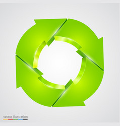 creative arrows circle recycle sign vector image