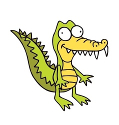 Crocodile cartoon smiling alligator funny vector