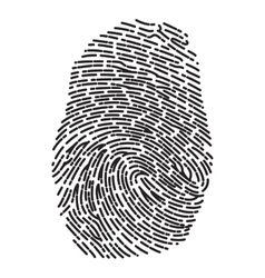 Dashed Line Fingerprint vector