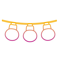 Degraded line nice bulbs hangings decoration style vector