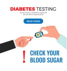 Diabetes test flat design vector