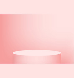 empty podium studio pink background for product vector image