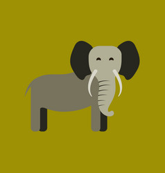 Flat icon stylish background cartoon elephant vector