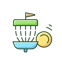 frisbee golf rgb color icon vector image