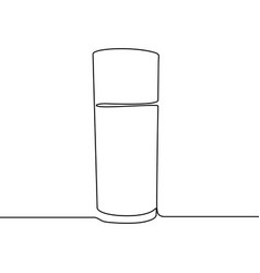 glass water continuous line vector image