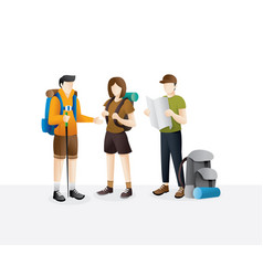 group traveler walking vector image