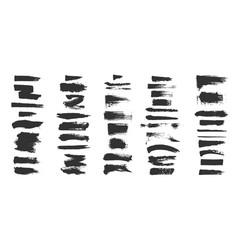 grunge brushes paintbrush sketch strokes black vector image