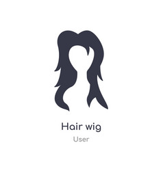 Hair wig icon isolated hair wig icon from user vector