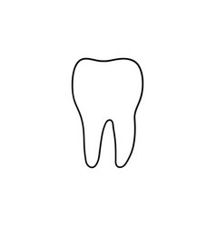 healthy tooth hand drawn outline doodle icon vector image