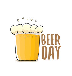 international beer day label vector image