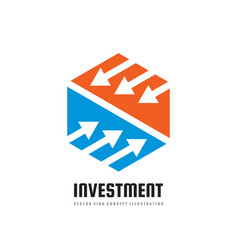 investment - concept business logo template vector image