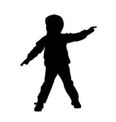 kid in hoodie posing silhouette vector image
