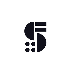 logo letter s black and white vector image