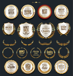 luxury golden design elements collection 1 vector image