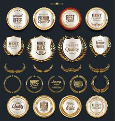 luxury golden design elements collection 1 vector image