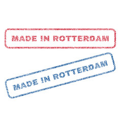 Made in rotterdam textile stamps vector
