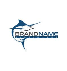 marlin logo template vector image