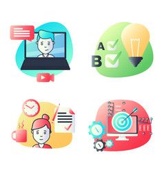material design icons set for education video vector image