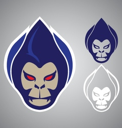 Monkey head modern logo emblem vector