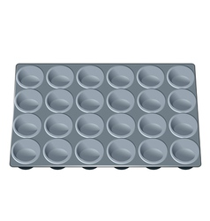 muffin tray vector image