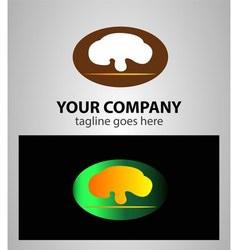 Mushroom lingzhi logo vector