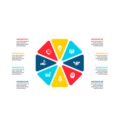 Octagon infographic with 8 options vector