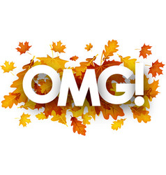 Omg autumn banner with leaves vector