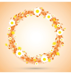 Orange round flowers vector