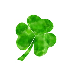 Painted watercolor shamrock isolated on white vector