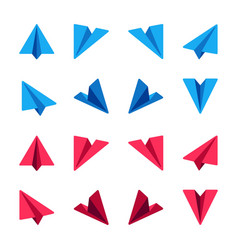 paper plane icon set vector image
