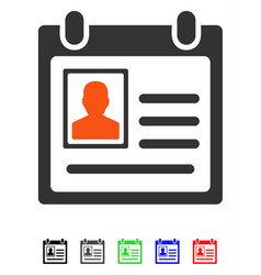 Personal badge flat icon vector