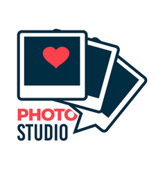 photo studio photographer services logotype vector image