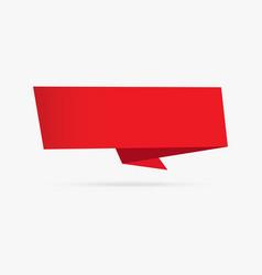 red velvet banner origami ribbon paper vector image