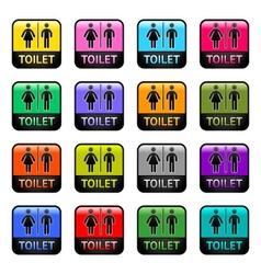 Restroom - set color symbols vector image