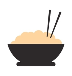 rice bowl icon vector image