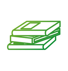 school stacked books learn encyclopedia library vector image